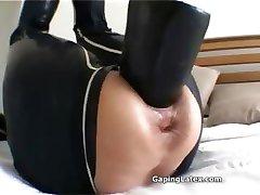 Nasty mature slut goes crazy dildo part2