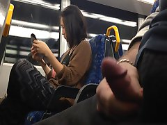 Flash Asian Girl on Train