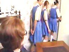 Safado alunas da linha para a sua bunda palmada punição