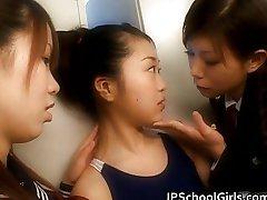 Extremamente quente japonês alunas