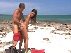Priva fucked on the beach
