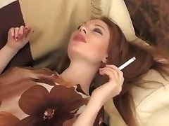 Smoking red head anal fucked
