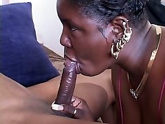 Ugly naughty blowlerina Ambisexual Nature enjoys riding a stiff black cock