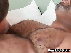 Gay urso preto tem o grande sexo como ele suga part6