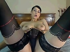 Chaturbate Cam Girl Plays with Tits and Poon