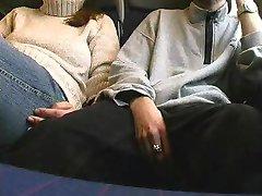 german amateur girl sucking cock in public train