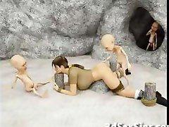 Monstre å Knulle 3D Elf Jenter!