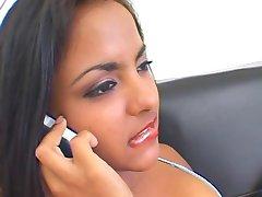 Cute latina sex fiend, fica difícil doggystyle batendo
