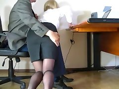 Hidden camera filmed a humble secretary