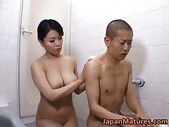 Peitos Peitos Miki Sato Agradável Duche part2