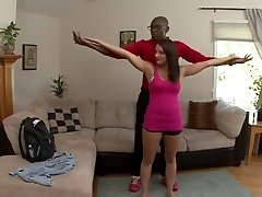 Kayla Vest har sin mann se henne ta svart kuk