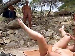 Beach fuckfest voyeur and play