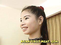 Nylon Thai Sweetie Splattered With Sperm