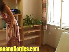 Slovak teen gets oily massage at the CASTING