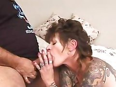 Professional actor Ron Jeremy and tattooed wannabe fuck enthusiastically
