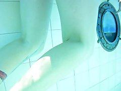 my wife nick flashing underwater