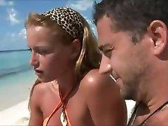Honeymoon wives cheat on the beach