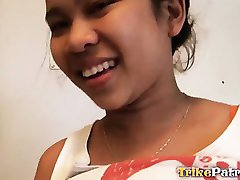 Big-tittied Filipina teen is ass-fucked and facialed