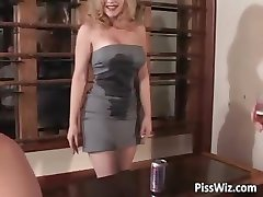 Gorgeous busty babe gets her wet cock part1