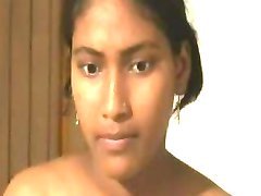 Indian Girl show shaved pussy