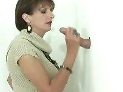 Cuckold ure žena zanič gloryhole tiča v spodnje perilo
