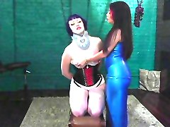 Mature asian playing around with her slave
