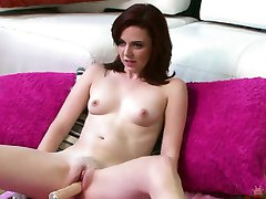 Emma Evins fucked by a machine