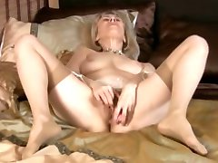 Milf in Stockings Toys and Fingers