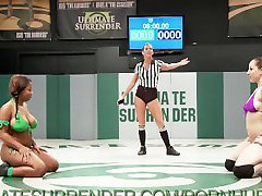 Sex Wrestling with Busty Babes