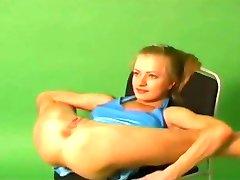 Velmi Flexibilní Gymnastka