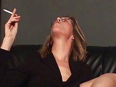 Mature mom punishing her male slave
