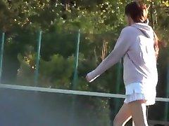Sportovní Voyeurismus. Tenis puls 1 koukání pod sukně
