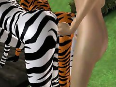 Two sexy 3D furries getting fucked hard in the park