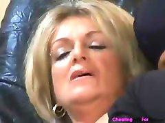 Honeyed mature prosti with a comforting face flower, Karola, eats a hunk's spunk