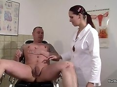 German Nurse want a Semen Example and get it with Screw