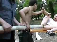 Towheaded gets a huge pole up her backside