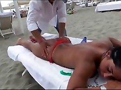 Voyeur Beach Massage Hot Sexy Asses