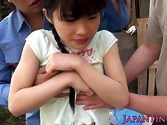 مرنة facialized الآسيوية في سن المراهقة mmf threeway