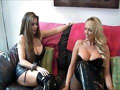 mistress and friend use sub