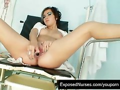Teen nurse Nina kinky pussy stretching