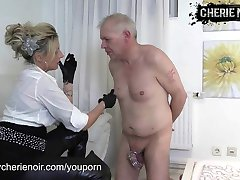 Face slapping with leather gloves by FEMDOM CHERIE NOIR