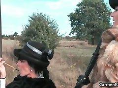 Dois desagradável hot babes escravidão três part5