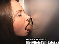 wild glory hole sperma înghițitor