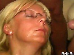 Cum Queen Jade Gets A Lot of Cum on Her Glasses