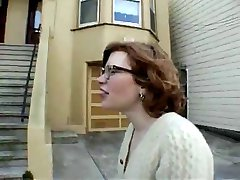 Hairy redhead teen flashing in public - N. C.