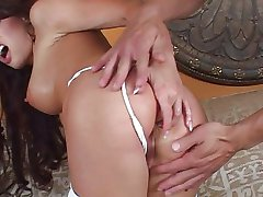 Hard cock for tiny MILF pussy
