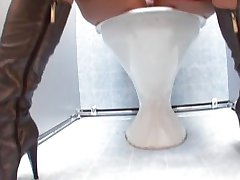 Sex in toilet with cutie russian girl #15