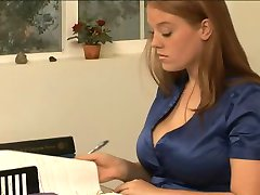 Busty Sierra Skye & Alia Starr in Lesbian Office Seductions