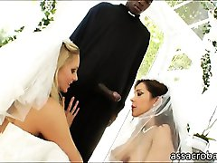 Lusty big boobs brides ass destroyed