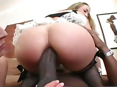 lesbs fucking anal with lucky guy